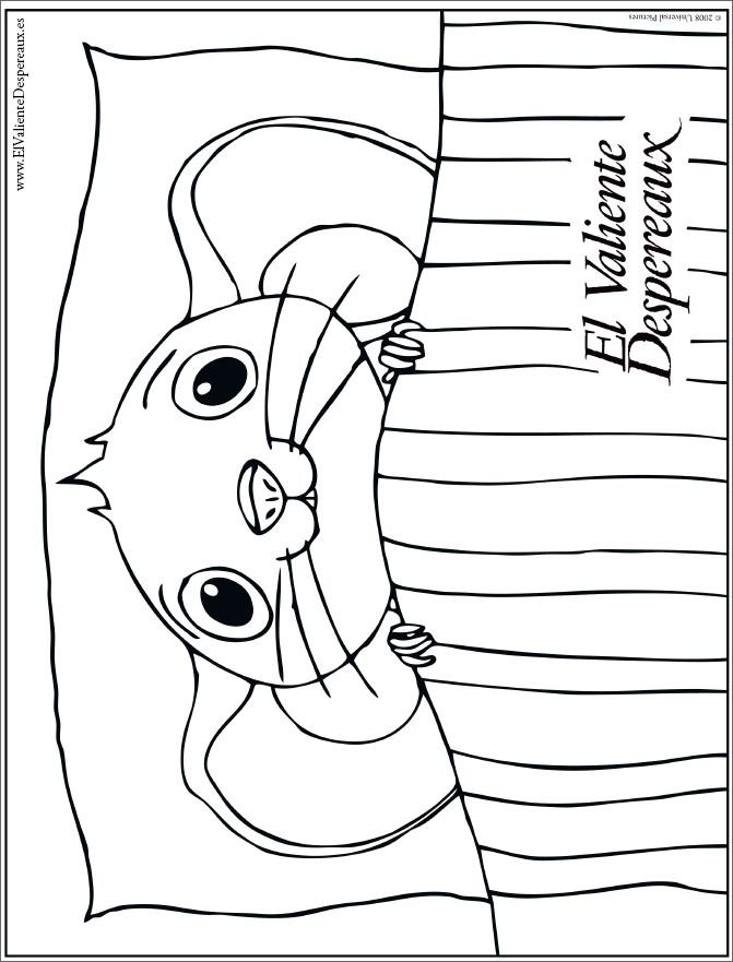 Dibujo del ratón en su cama - Dibujos para colorear EL VALIENTE ...