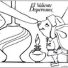 Dibujo del diminuto ratón - Dibujos para Colorear y Pintar - Dibujos de PELICULAS colorear - Dibujos para colorear EL VALIENTE DESPEREAUX