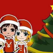 Dibujo Navidad NIÑOS - Dibujar Dibujos - Dibujos infantiles para IMPRIMIR - Dibujos de NAVIDAD para imprimir - Dibujos PAPA NOEL