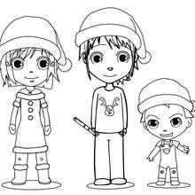 Dibujo para colorear : Celebrar el espíritu de la Navidad