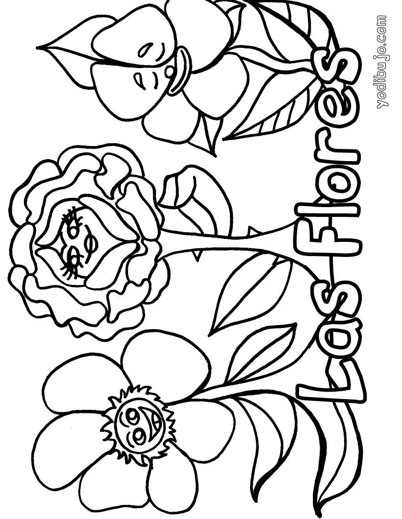Dibujo de las flores - Dibujos de FLORES para pintar