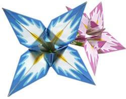 Origami lirio de papel