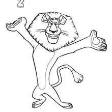 Dibujo de Alex - Dibujos para Colorear y Pintar - Dibujos de PELICULAS colorear - Dibujos para colorear y pintar MADAGASCAR - Dibujos para colorear MADAGASCAR 2