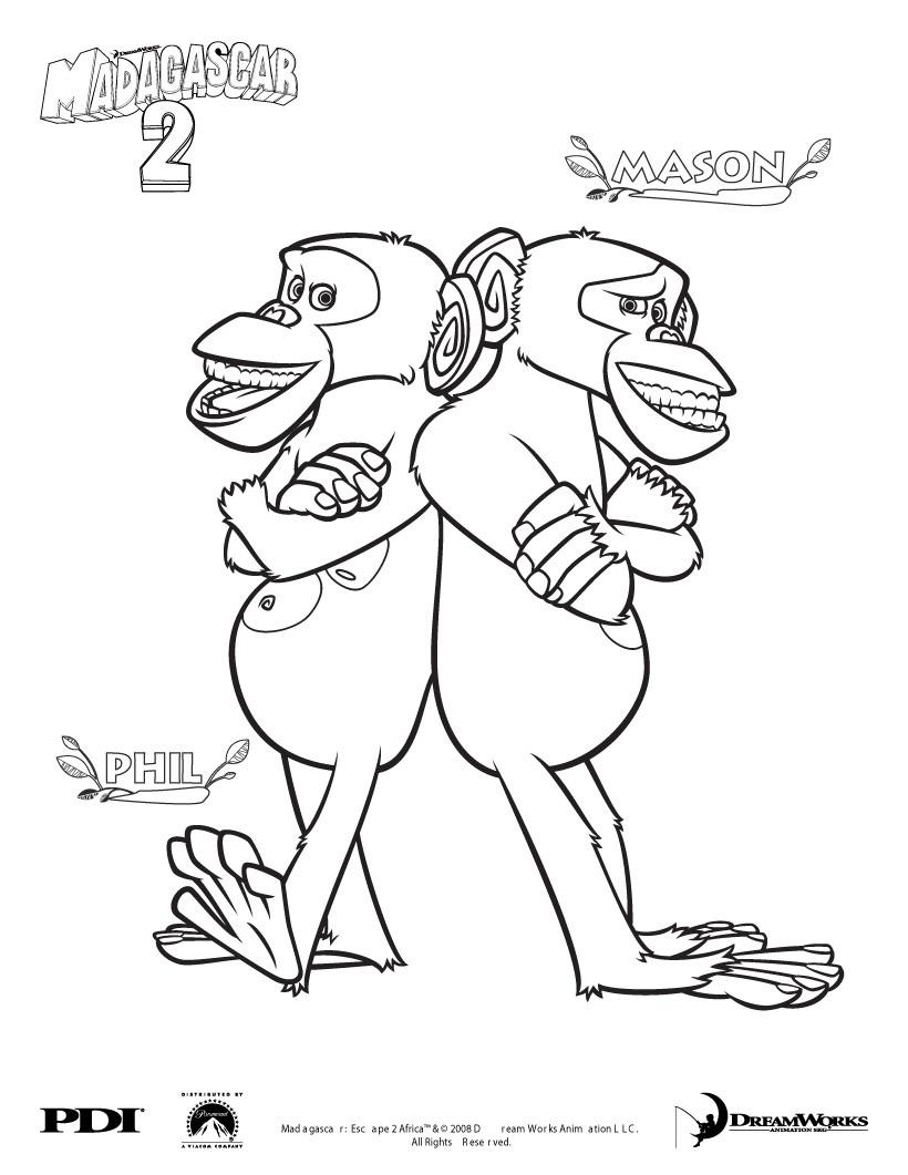 Dibujos Para Colorear Monos. Affordable Dibujo Para Colorear Signo ...