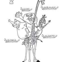 Dibujo de Madagascar 2 - Dibujos para Colorear y Pintar - Dibujos de PELICULAS colorear - Dibujos para colorear y pintar MADAGASCAR - Dibujos para colorear MADAGASCAR 2