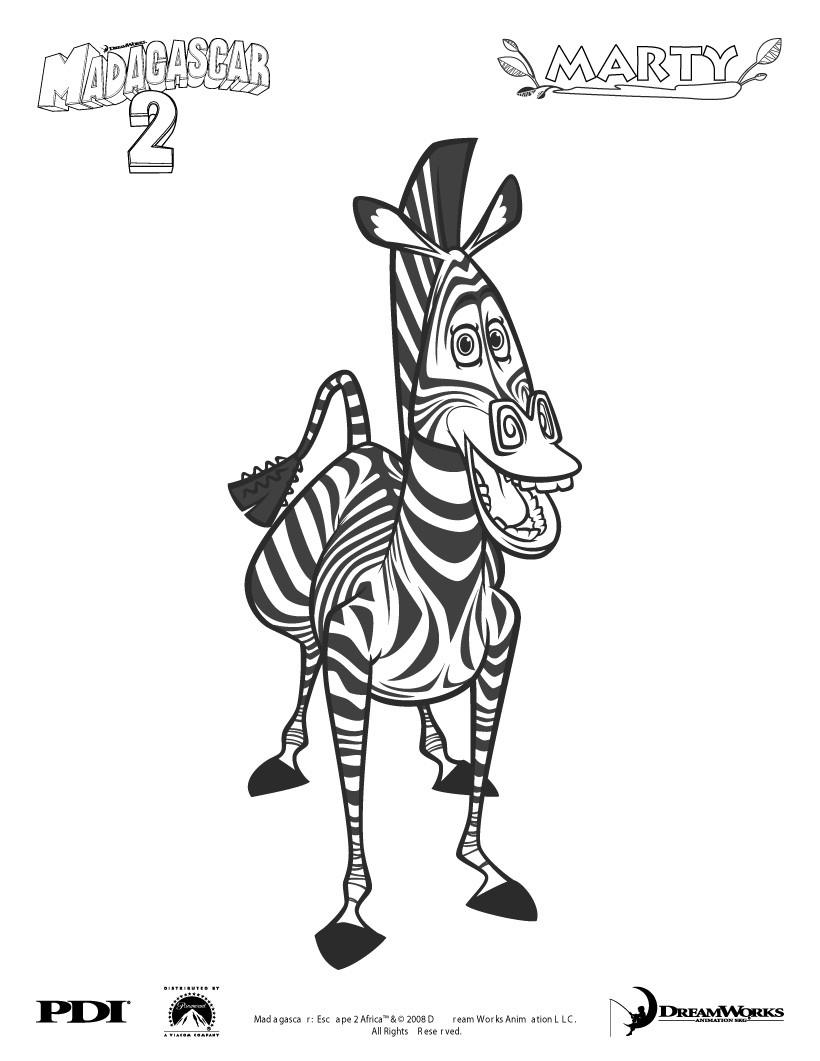 Dibujos para colorear madagascar melman la jirafa - es.hellokids.com