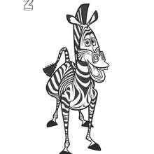 Dibujo de Marty - Dibujos para Colorear y Pintar - Dibujos de PELICULAS colorear - Dibujos para colorear y pintar MADAGASCAR - Dibujos para colorear MADAGASCAR 2