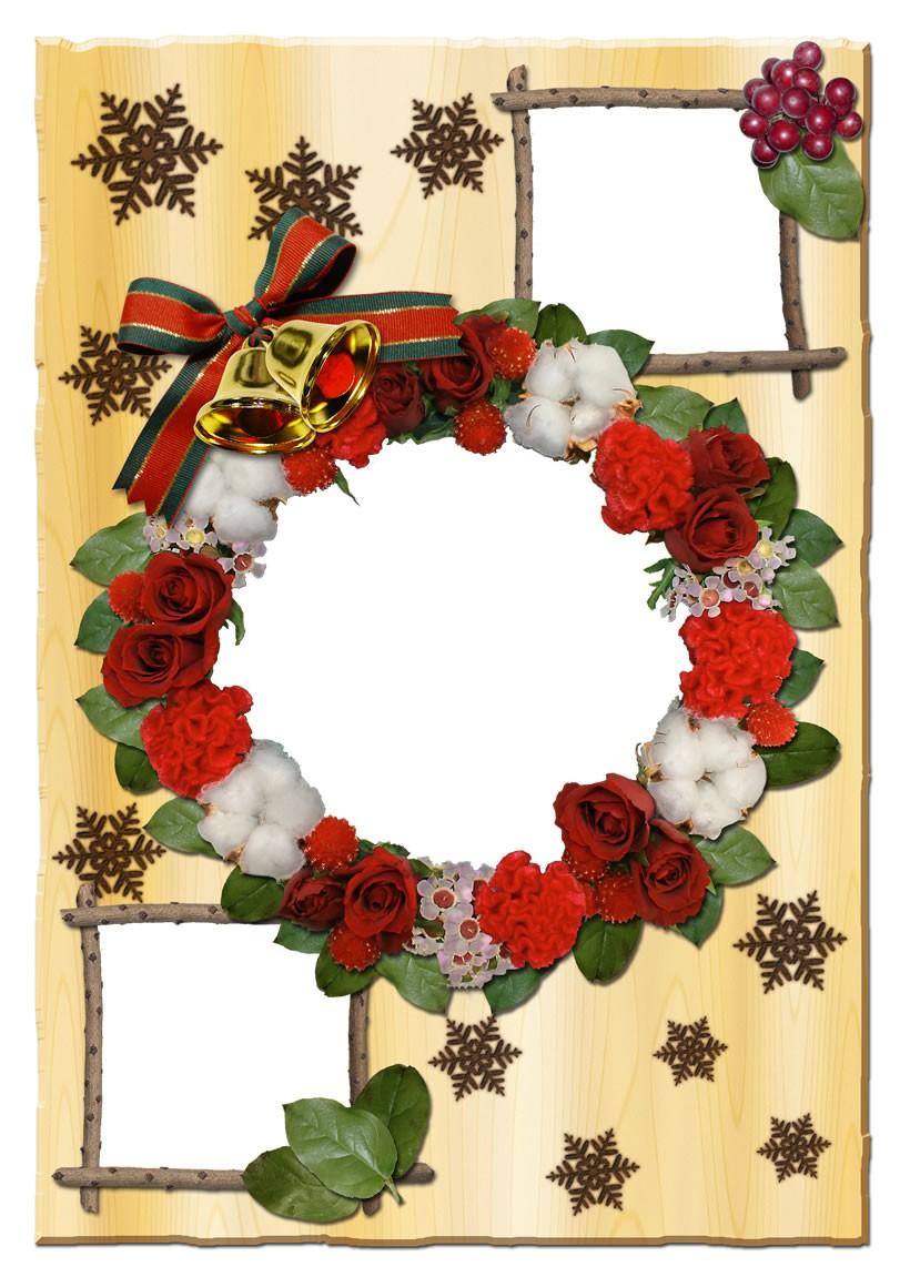 Actividades manuales de marco de fotos corona navideÑa - es ...