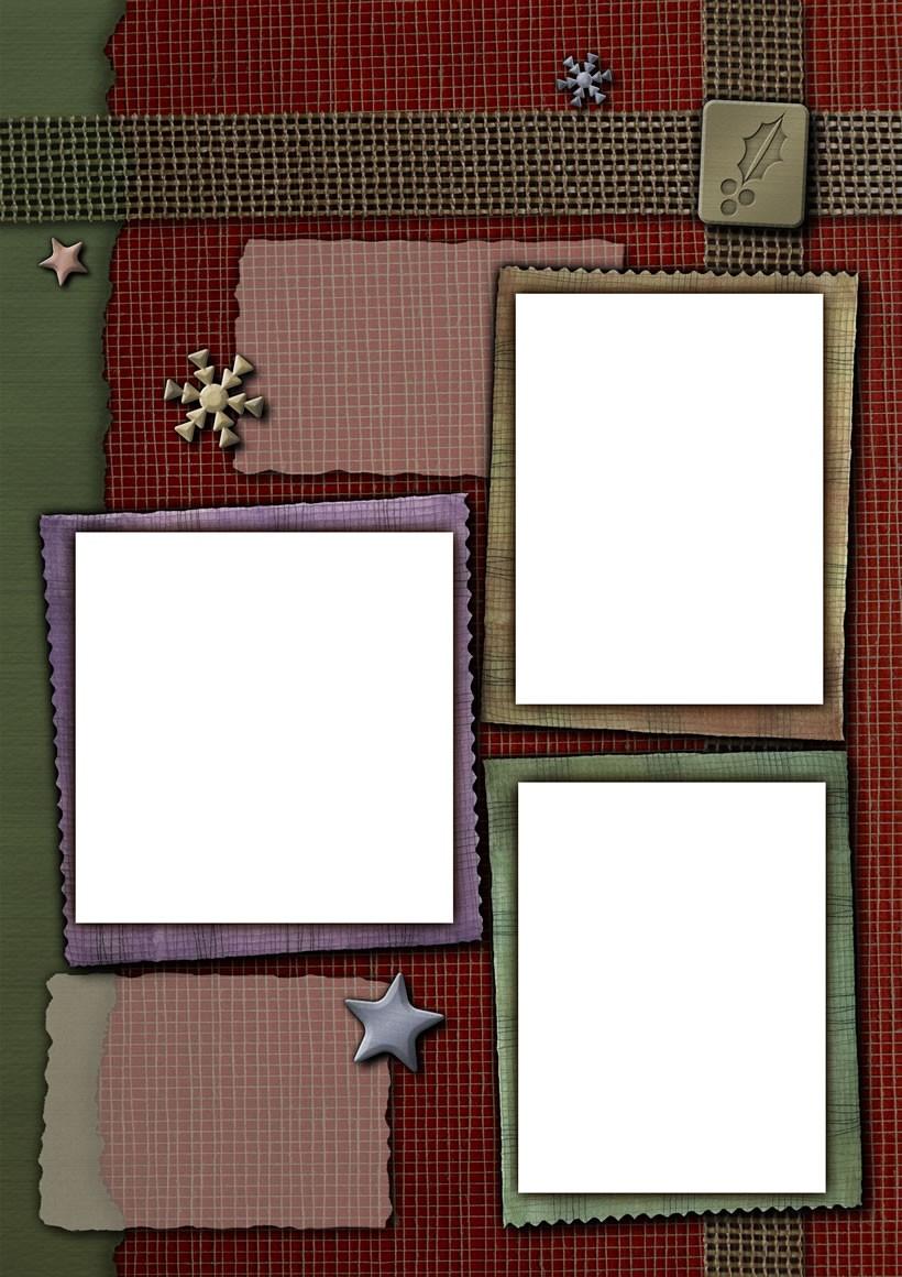 Actividades manuales de marco de fotos copo de nieve (3 fotos) - es ...
