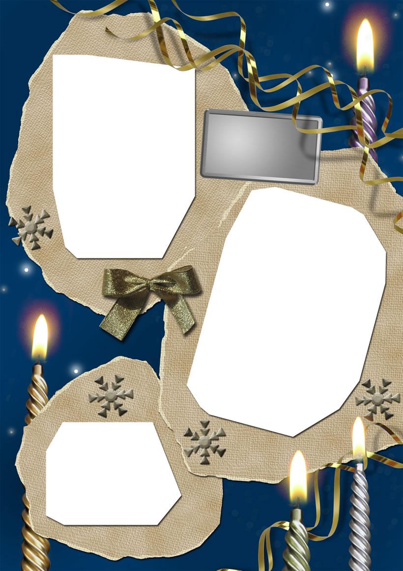 Actividades manuales de marco de fotos velas - es.hellokids.com