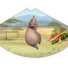 Sombrero de Gloria la hipopótamo - Manualidades para niños - Manualidades infantiles - Sombreros de Madagascar 2