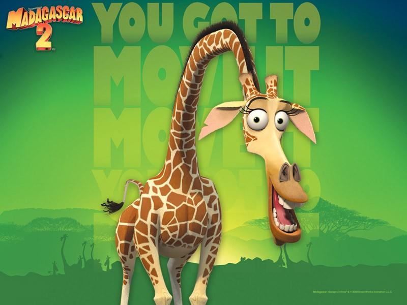 Fondos e íconos: Madagascar 2 - Fondo de Melman la jirafa