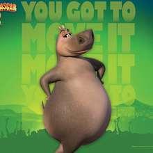 Fondo de Gloria el hipopótamo - Dibujar Dibujos - Dibujos para DESCARGAR - FONDOS GRATIS - Fondos e íconos: Madagascar 2