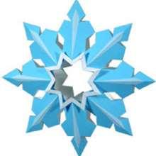 Papiroflexia estrella azul