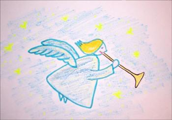Aprender a dibujar : Angel navideño