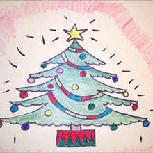 Aprender a dibujar : Árbol de Navidad