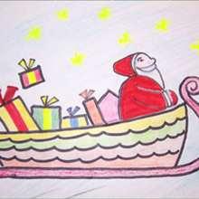 Aprender a dibujar : Trineo de Santa Claus