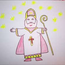 Como dibujar San Nicolás