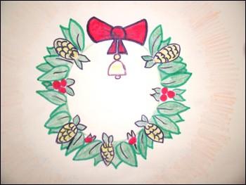 Aprender a dibujar : Corona navideña