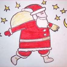 Aprender a dibujar : Papá Noel