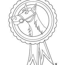 Dibujo de un trofeo de una carrera de caballo para pintar - Dibujos para Colorear y Pintar - Dibujos para colorear DEPORTES - Dibujos de EQUITACION para colorear - Dibujos de CARRERAS DE CABALLOS para colorear