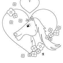Dibujo de hermosa yegua - Dibujos para Colorear y Pintar - Dibujos para colorear ANIMALES - Colorear CABALLOS - Dibujos de YEGUAS para colorear