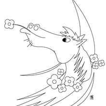 Retrato de caballo para pintar - Dibujos para Colorear y Pintar - Dibujos para colorear ANIMALES - Colorear CABALLOS - Dibujos de CABALLOS para colorear e imprimir