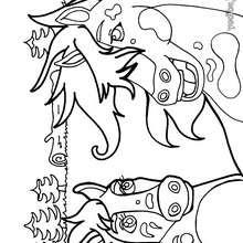 Dibujo hermosos caballos para colorear - Dibujos para Colorear y Pintar - Dibujos para colorear ANIMALES - Colorear CABALLOS - Dibujos de CABALLOS SALVAJES para colorear