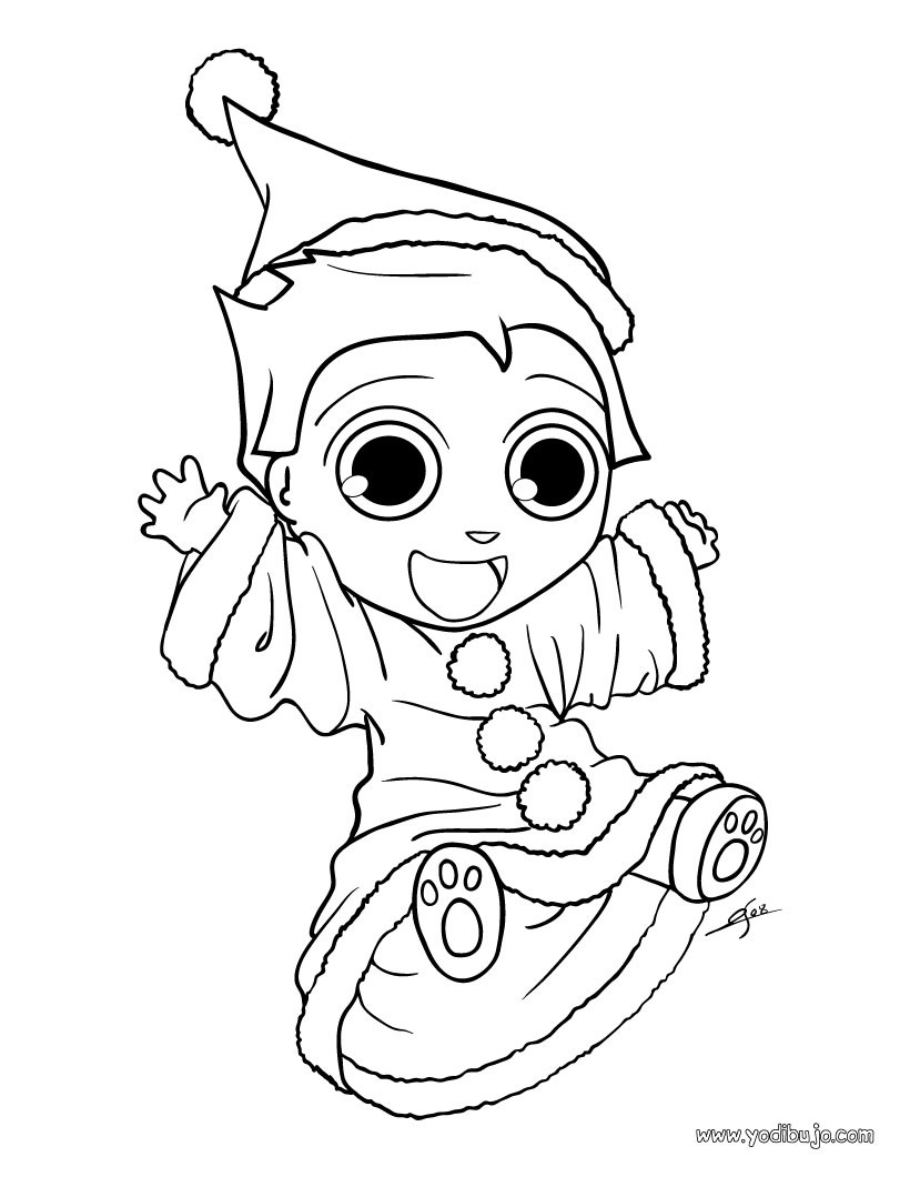 Dibujos para colorear disfraz de navidad - es.hellokids.com