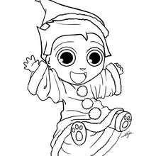 Dibujo para colorear : Disfraz de Navidad