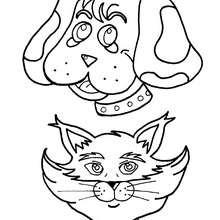 Dibujo de un retrato de perro - Dibujos para Colorear y Pintar - Dibujos para colorear ANIMALES - Dibujos PERROS para colorear - Dibujos para colorear e imprimir PERROS