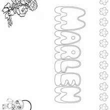 MARLEN colorear nombres niñas - Dibujos para Colorear y Pintar - Dibujos para colorear NOMBRES - Dibujos para colorear NOMBRES NIÑAS