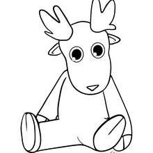 Dibujo de un animal navideño de felpa - Dibujos para Colorear y Pintar - Dibujos para colorear FIESTAS - Dibujos para colorear de NAVIDAD - OSO NAVIDAD para colorear