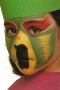 El loro: maquillaje de Carnaval - Manualidades para niños - Manualidades para cada fiesta del año - Manualidades infantiles CARNAVAL - Maquillajes de CARNAVAL - Maquillajes CARNAVAL gratis