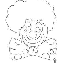 Dibujo cara de payaso - Dibujos para Colorear y Pintar - Dibujos para colorear FIESTAS - Dibujos para colorear CARNAVAL - Dibujo para colorear PAYASO