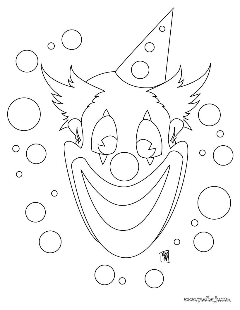 Dibujos para colorear payaso con globos - es.hellokids.com