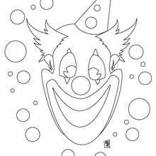 Dibujo payaso de carnaval - Dibujos para Colorear y Pintar - Dibujos para colorear FIESTAS - Dibujos para colorear CARNAVAL - Dibujo para colorear PAYASO