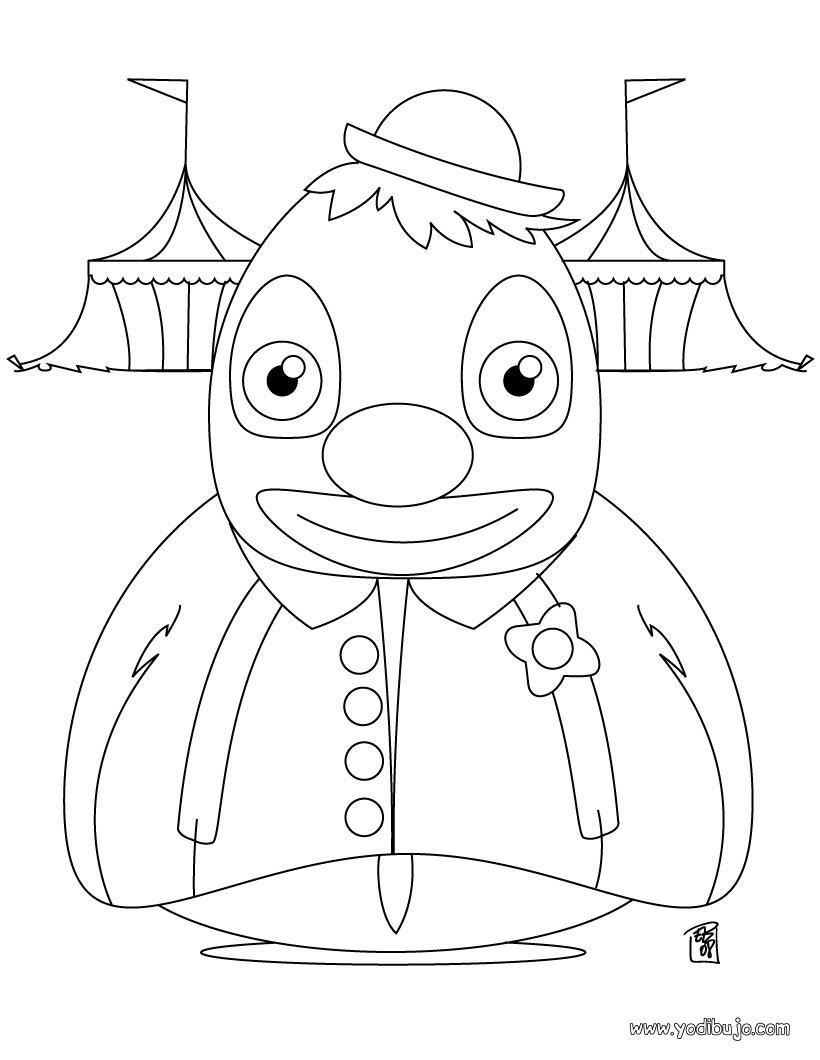 Dibujos para colorear payaso de circo - es.hellokids.com