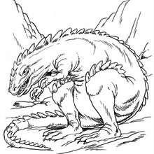 Dibujo, dinosaurio Allosaurio - Dibujos para Colorear y Pintar - Dibujos para colorear ANIMALES - Dibujos para colorear DINOSAURIOS - Colorear dinosaurio ALOSAURIO