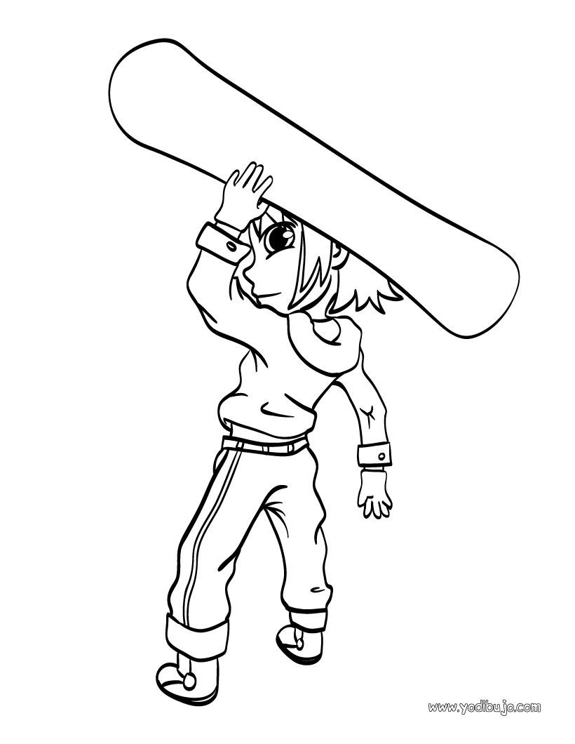 dibujo surf de invierno dibujos para colorear y pintar dibujos para colorear deportes
