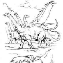 Dibujo para colorear : Brontosaurios