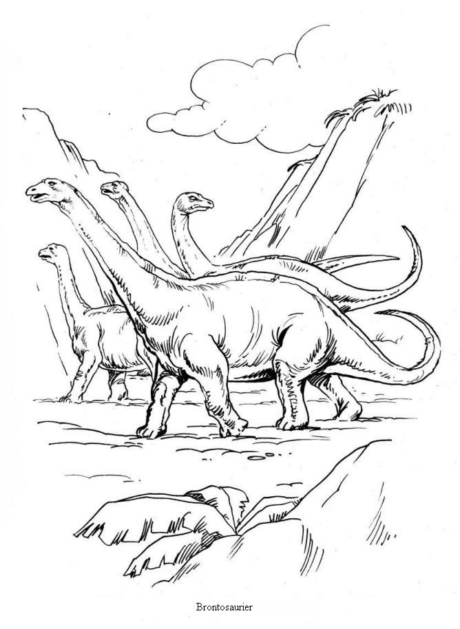 Dibujos Para Colorear Brontosaurios Es Hellokids Com