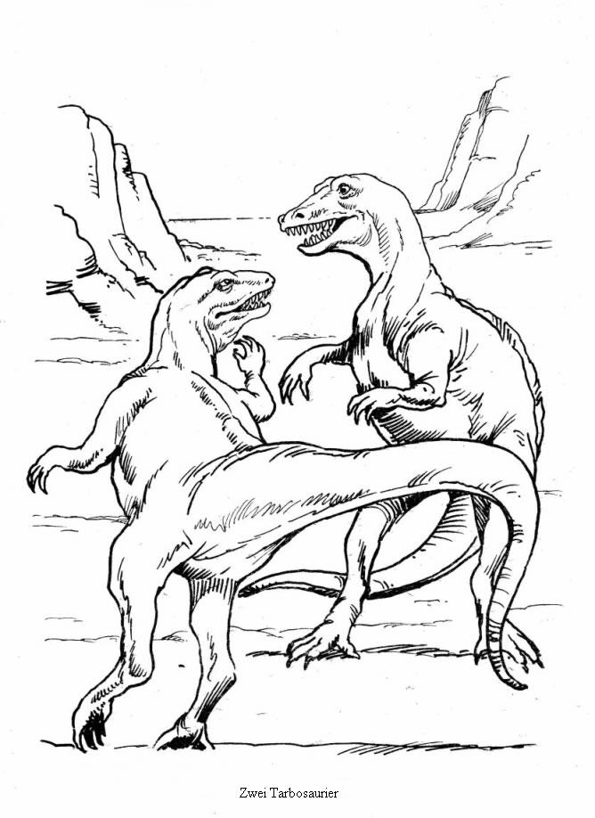 Dibujo dinosaurios Tarbosaurio