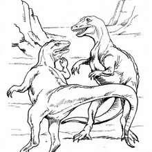 Dibujo dinosaurios Tarbosaurio - Dibujos para Colorear y Pintar - Dibujos para colorear ANIMALES - Dibujos para colorear DINOSAURIOS - Colorear dinosaurio TARBOSAURIO