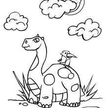 Dibujo cuello largo - Dibujos para Colorear y Pintar - Dibujos para colorear ANIMALES - Dibujos para colorear DINOSAURIOS - Colorear CUELLO LARGO