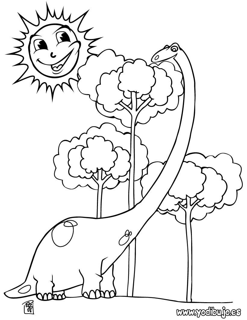 Dibujos Para Colorear Dinosaurios Imprimir 79 Dibujos De Dinosaurios Para usarlos, solo tienes que imprimir la imagen que más te guste y luego basta con pintarla de los. hellokids