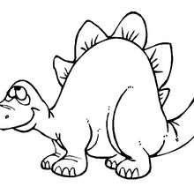 Dibujo para colorear : Estegosaurio para niños