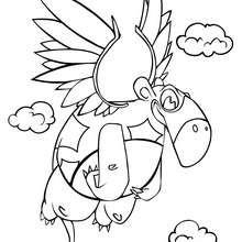 Dibujo para colorear : Dinosaurio volador