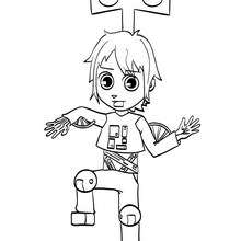Dibujo disfraz de robot para carnaval - Dibujos para Colorear y Pintar - Dibujos para colorear FIESTAS - Dibujos para colorear CARNAVAL - Dibujos DISFRACES CARNAVAL para colorear - Dibujo disfraz de CARNAVAL para colorear