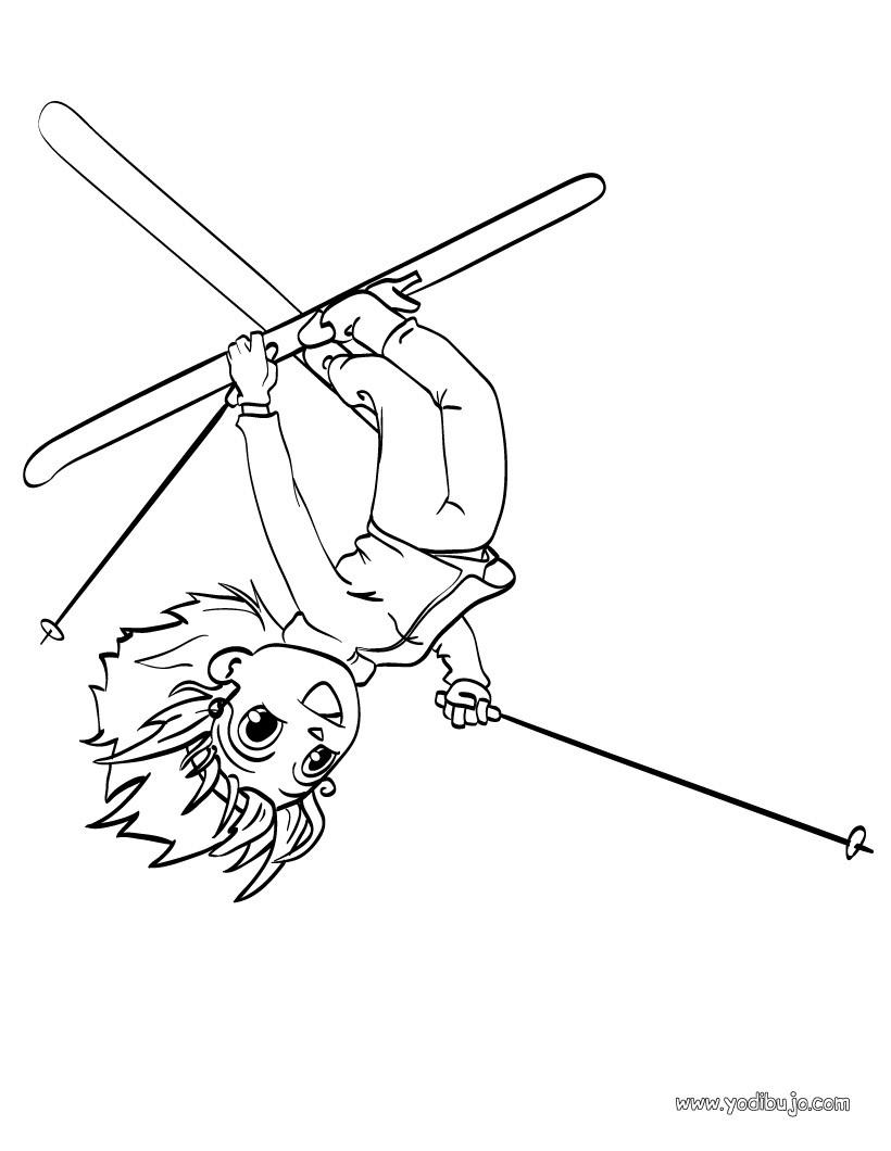 Dibujos para colorear andrea y luis a la montaña - es.hellokids.com